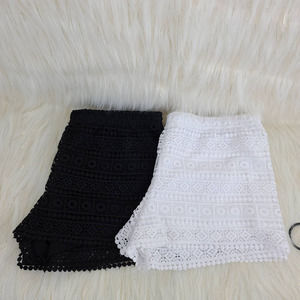 TWO Divided Lace Shorts Black & White Size Small